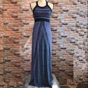 Athletes Blue Print Maxi Dress, XS